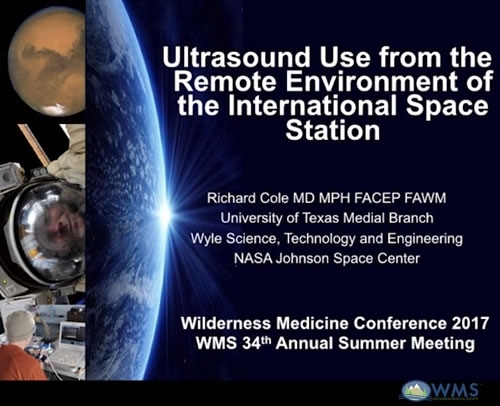 Ultrasound Use from the Remote Environment of the Int'l Space Station - Richard Cole