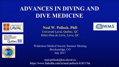 Advances in Dive Medicine - Neal Pollock