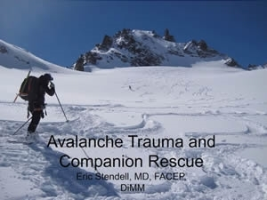 Avalanche Trauma and Companion Rescue - Eric Stendell