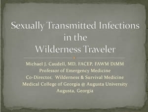 STDs in the Wilderness Traveler - Michael Caudell