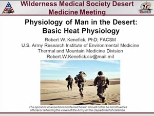 Physiology of Man in the Desert: Basic Heat Physiology - Robert Kenefick