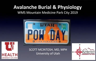 Avalanche Physiology and Trauma - Scott McIntosh