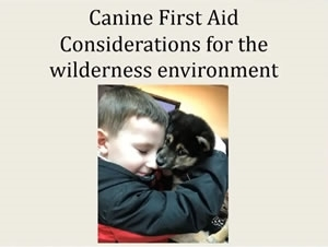 Canine First Aid Considerations for the Wilderness Environment - Elizabeth Reno