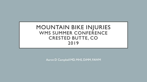 Mountain Bike Injuries - Aaron Campbell