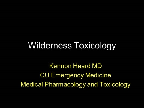Toxicology - Kennon Heard