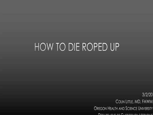 How To Die Roped Up - Colin Little