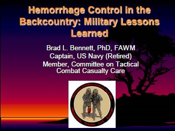 Hemorrhage Control in the Backcountry: Military Lessons Learned, Bennett