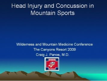 Head Injury and Concussion in Mountain Sports - Panos