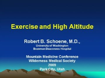 Exercise at Altitude - Schoene
