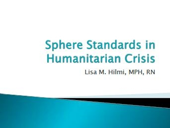 SPHERE and NGO Coordination - Hilmi