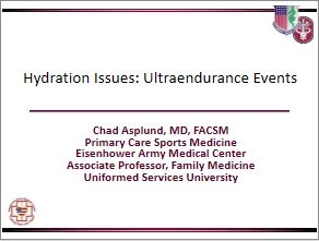 Ultra-Endurance Issues - Hydration, Chad Aspland