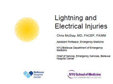 Lightning and Electrical Injuries - Chris McStay