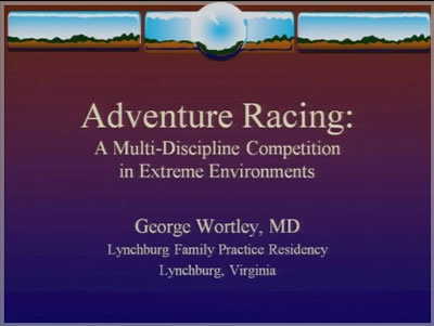 Adventure Race Management and Injuries - George Wortley