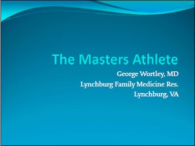 The Masters Athlete in the Wilderness - George Wortley
