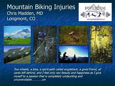 Mountain Biking Injuries - Chris Madden