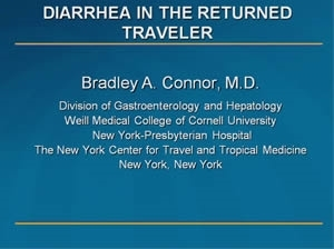 Travelers' Diarrhea in the Microbiome Era - Bradley Connor