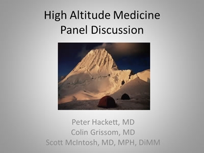 High Altitude Panel Discussion - Scott McIntosh, Colin Grissom, Peter Hackett
