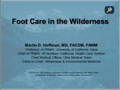 Foot Care in the Wilderness - Marty Hoffman