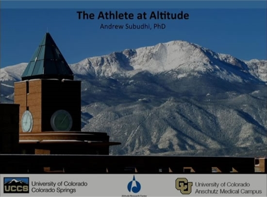 The Athlete at High Altitude - Andrew Subudhi