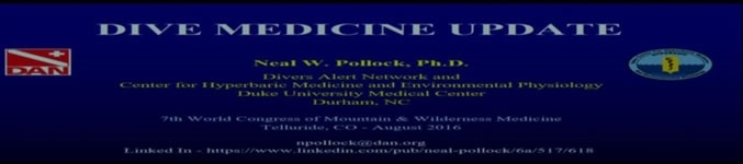 Dive Medicine Update: Core Clinical Update - Neal Pollock