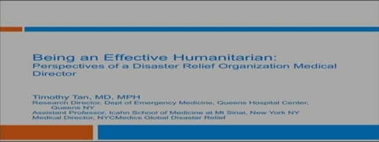 Perspectives of a Disaster Relief Medical Director - Tim Tan
