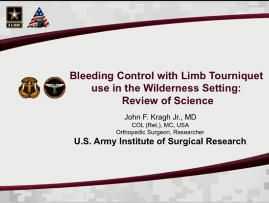Extravascular Hemorrhage Control: Tourniquet Devices - John Kragh