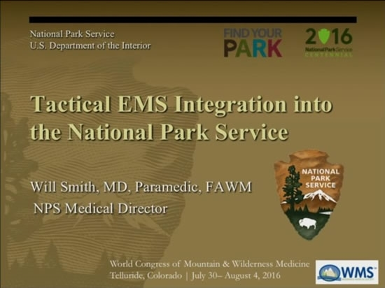 TCCC Integrated into the National Park Service - Will Smith